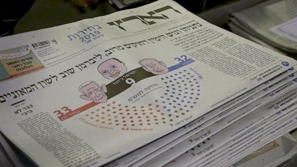Israel elections deadlocked between 2 major political parties
