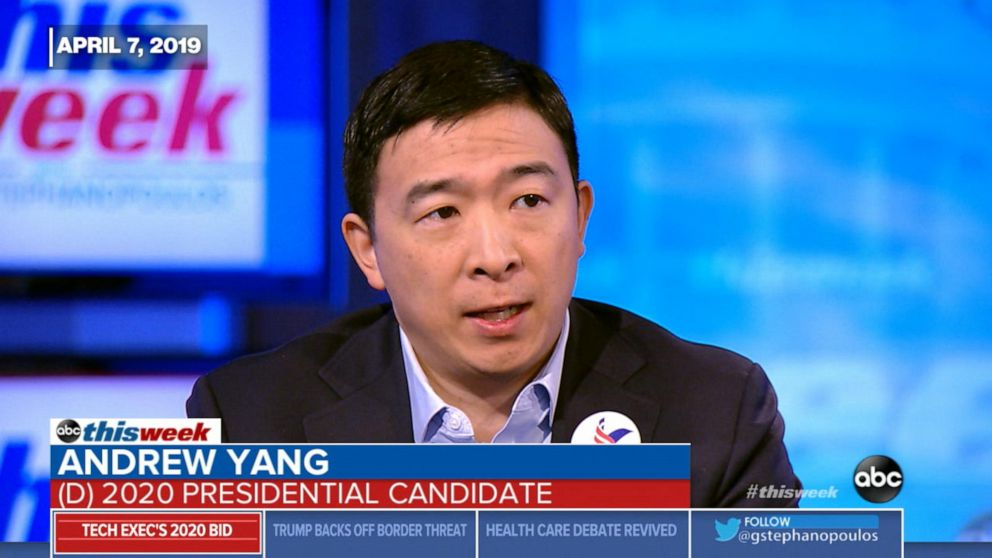Andrew Yang discusses universal basic income: April 7, 2019
