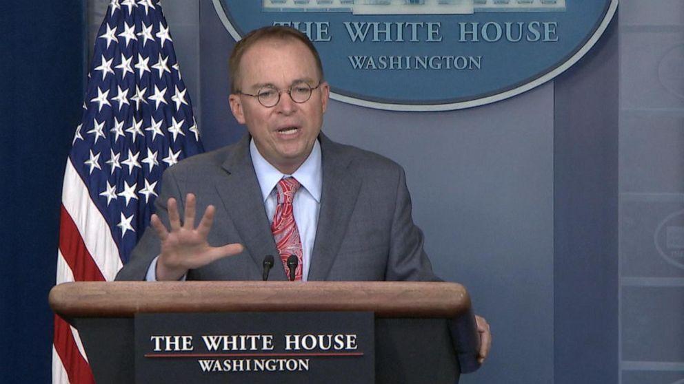 Acting White House chief of staff acknowledges quid pro quo in Ukraine