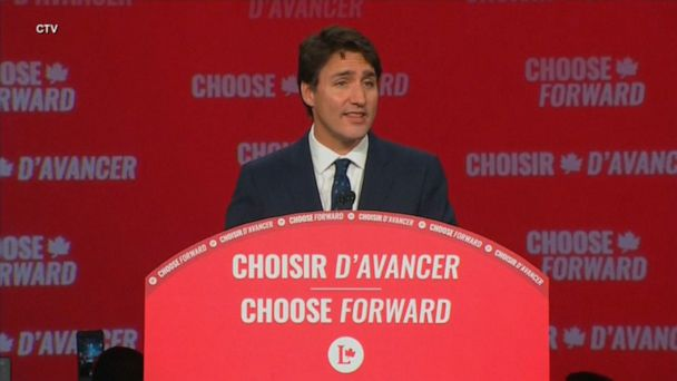 Justin Trudeau wins 2nd term but loses majority