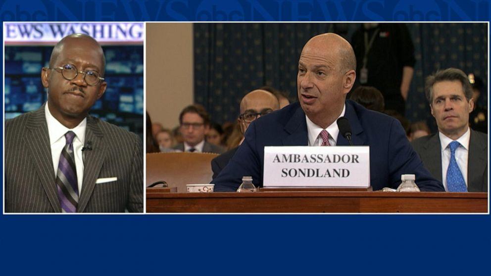 Gordon Sondland testifies there was a quid pro quo