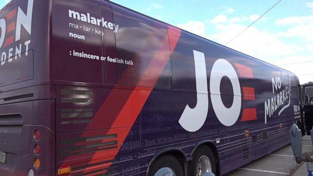 Biden campaigns in Iowa on 'No Malarkey' bus tour, Warren opens up on campaign trail