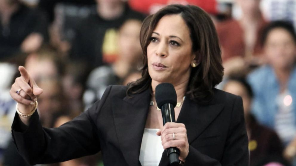 As A Presidential Candidate Sen Harris A Lawyer Struggled To Present A Clear Case Analysis Abc News