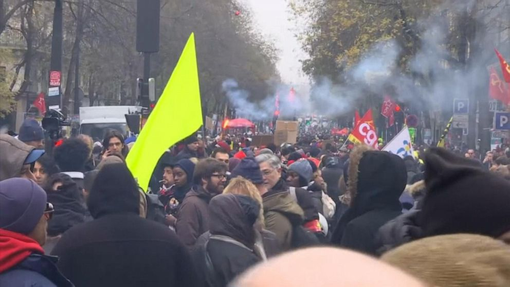 Protests paralyze France after decision to overhaul country's pension system