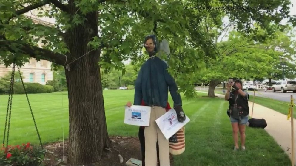 Kentucky governor hung in effigy from tree