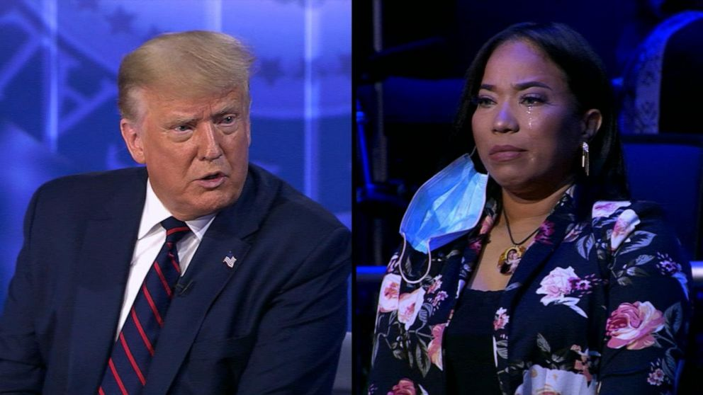 President Trump faces questions from uncommitted voters in town hall