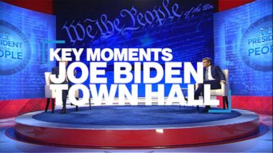 Key moments from Joe Biden's town hall with ABC News