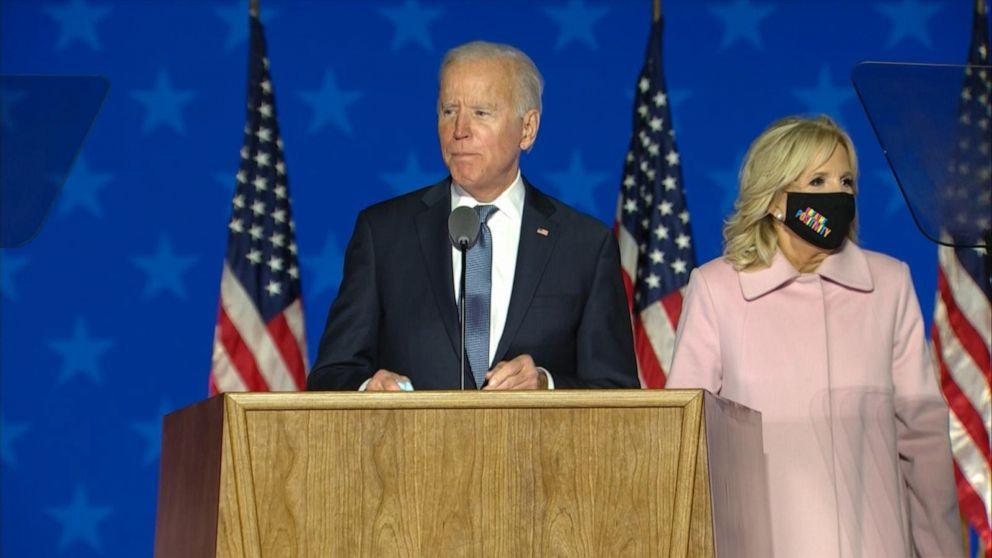 Joe Biden speaks from Delaware
