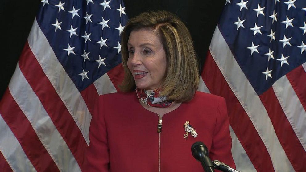 Nancy Pelosi praises Democrats for retaining the House majority