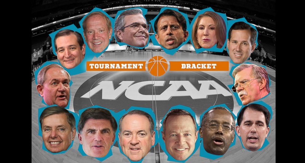 PHOTO: The 2016 Presidential Candidates in the ESPN.com NCAA Bracket