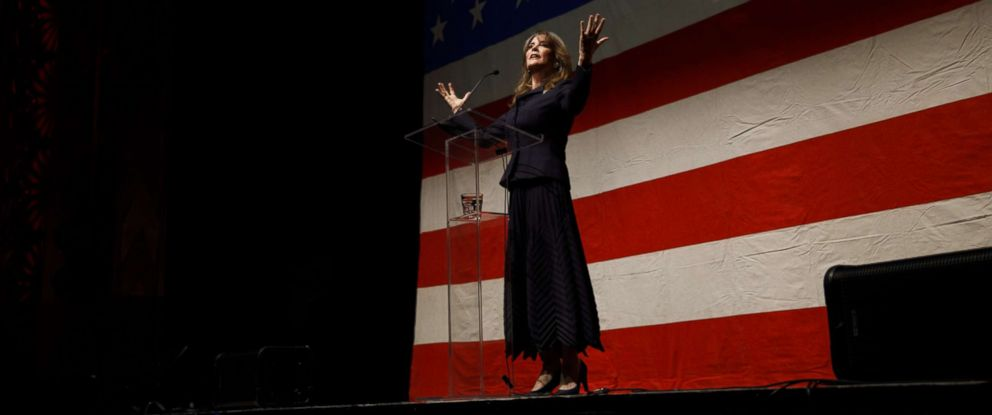 Author Marianne Williamson announces her presidential run, Jan. 28, 2019, in Beverly Hills, Calif.