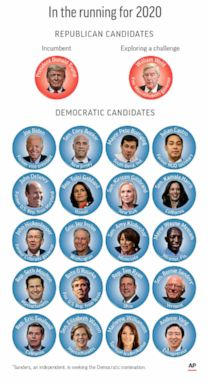 PHOTO: Candidates for president in 2020.