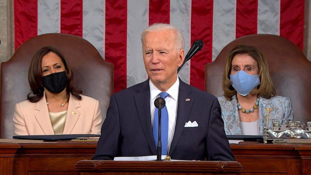 President Joe Biden addresses Congress after 1st 100 days in office