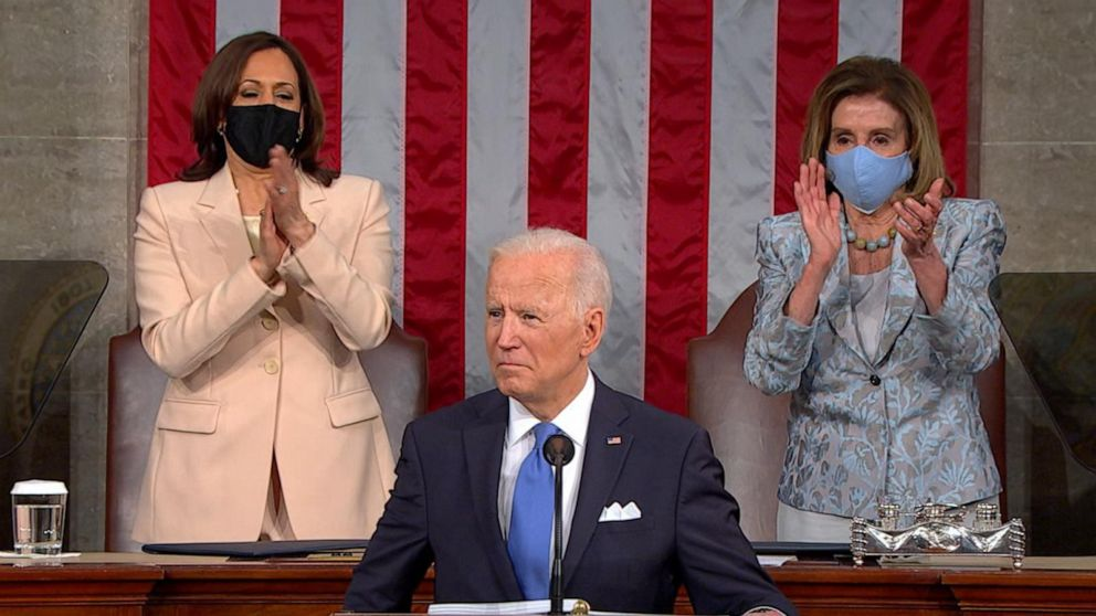 President Joe Biden addresses Congress on equal pay for women and right to unionize