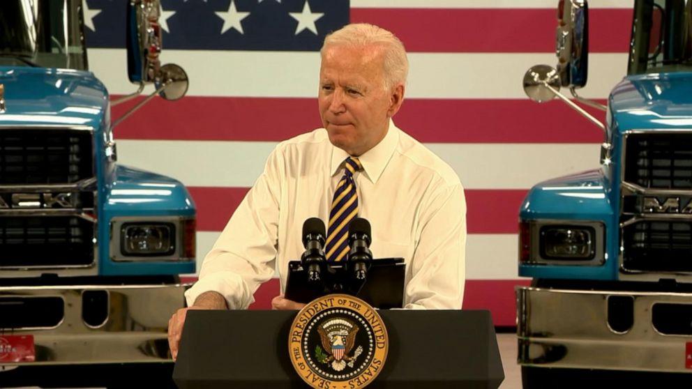 Biden touts American manufacturing, infrastructure deal