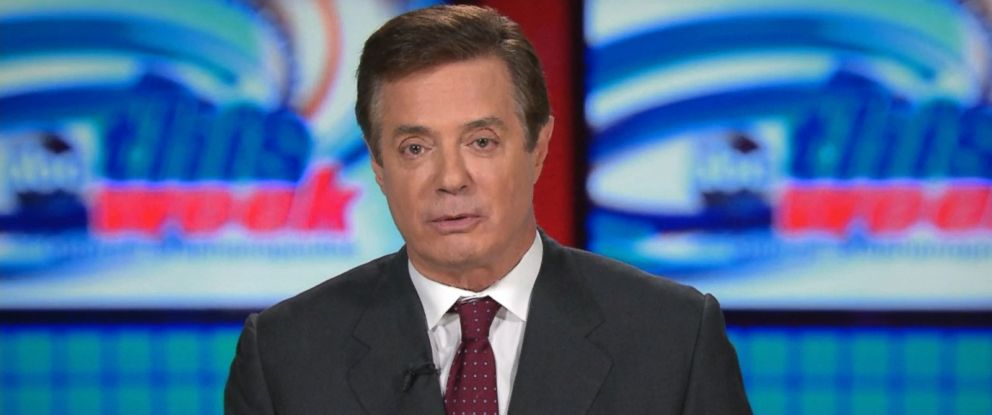 "PHOTO: Then-Trump campaign chairman Paul Manafort spoke to ABC News on July 24, 2016, and said questions about ties with Russia were ""absurd."""