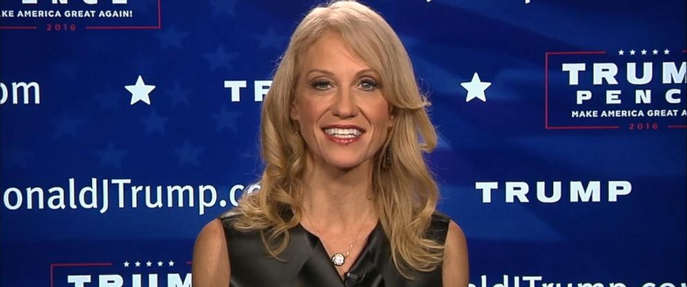 """PHOTO: Donald Trump campaign manager Kellyanne Conway appeared on """"Good Morning America"""" to discuss Trumps win in the 2016 presidential race, Nov. 9, 2016."""