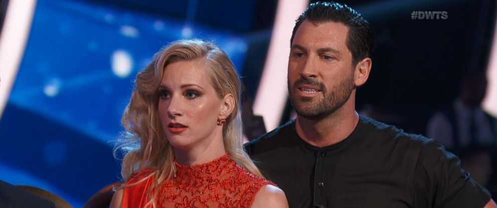 """PHOTO: Heather Morris and Maksim Chmerkovskiy appear on """"Dancing with the Stars,"""" April 24, 2017."""