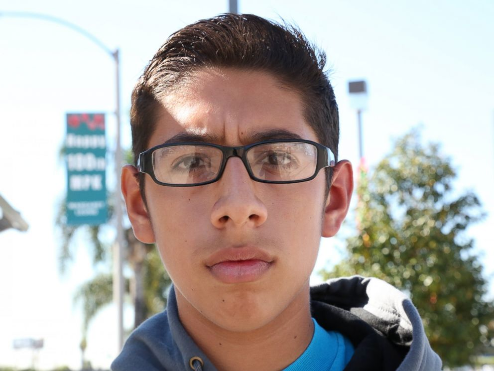 PHOTO: Los Angeles resident Josue, 14, told ABC News he thinks the next four years are going to be difficult because of President-elect Donald Trump.