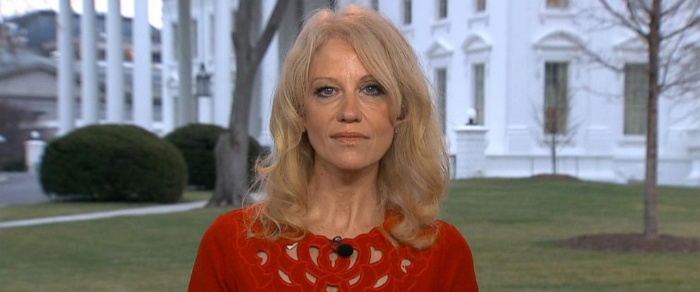 "PHOTO: Kellyanne Conway appeared on ""Good Morning America,"" Feb. 14, 2017."