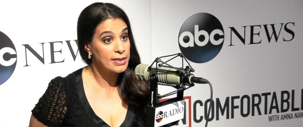 "PHOTO: Comedian Maysoon Zayid talks discrimination in Hollywood on ""Uncomfortable."""