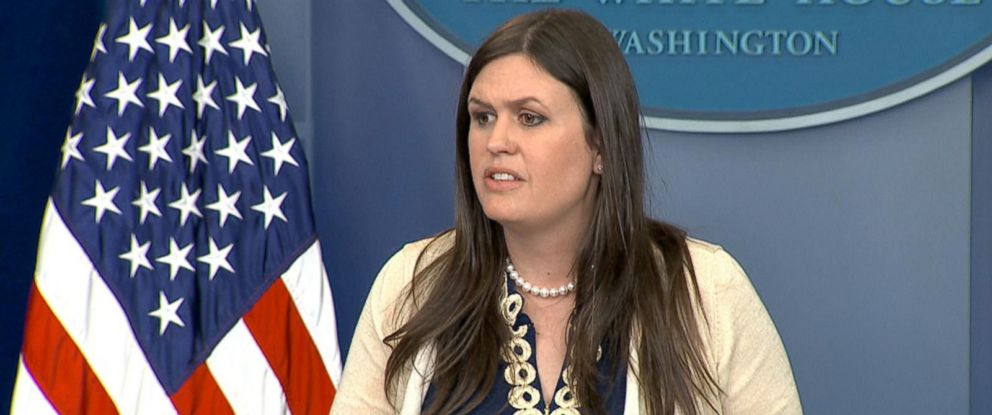 PHOTO: White House deputy press secretary Sarah Huckabee Sanders gives a press briefing at the White House in Washington, D.C., May 10. 2017.