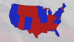 Us Map Blue Red States.You Ll Never Guess Why Republicans Are Red Democrats Blue Abc News