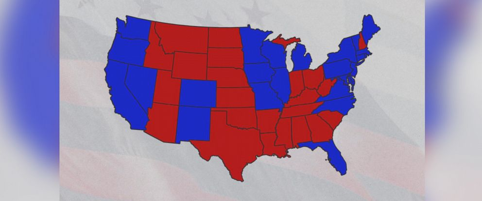 PHOTO: The red and blue picks for political parties havent always been the same.
