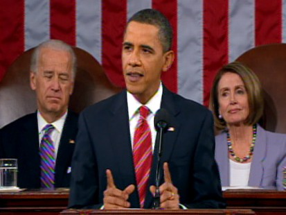 Video of President Obama talking about health care during State of the Union.