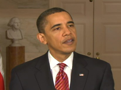 Video of President Barack Obama after meeting with CEOs on the economy.
