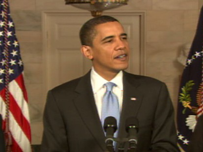 Video of PResident OBama talking about the Senate vote.