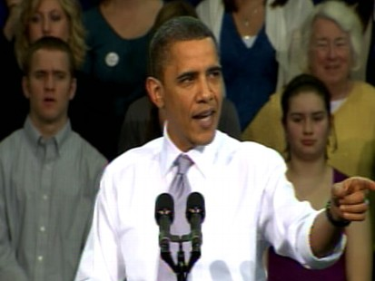 Video of President Obama challening Republicans on health care.
