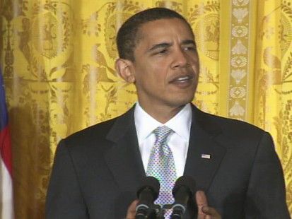 Video of President Barack Obama pushing his stimulus plan.