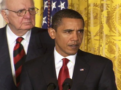 Video of ABC News Nows Politics Live program discussing Obamas selling of the stimulus.