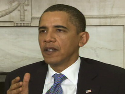 Video of President Obama talking about the economy.