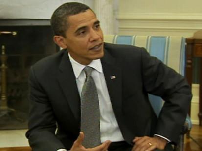 Video of Barack Obama talking about his superbowl pick.