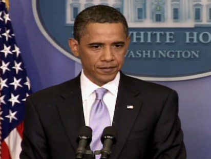 Video of Obama talking about health care reform.