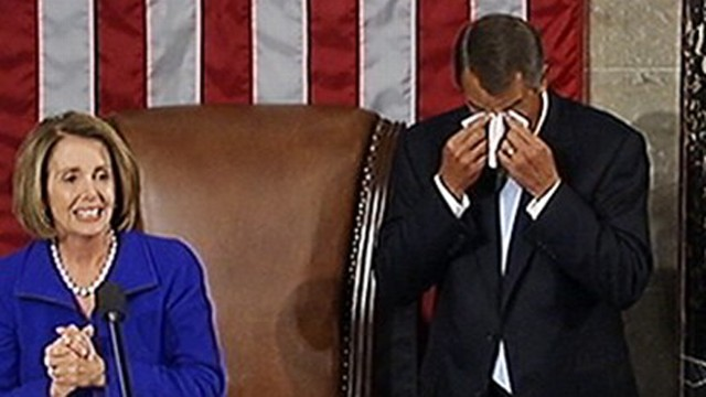VIDEO: Speaker John Boehner gets emotional during swear in on House floor.