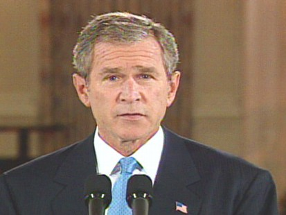 Video of President Bush holding a news conference on Operation Enduring Freedom and Terrorism.