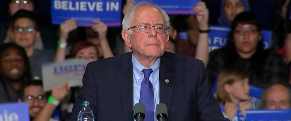 PHOTO: Sen. Bernie Sanders spoke at his primary night event on March 15, 2016, in Phoenix.