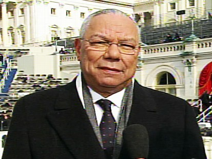 Video of Colin Powell discussing the inauguration of Barack Obama.