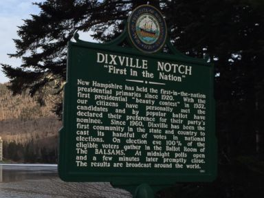 PHOTO: Dixville Notch has been known as First in the Nation Since 1960, when nine residents voted at midnight. Most of its land is occupied by the historic Balsams resort.