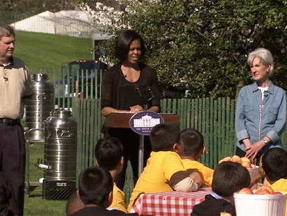 ABC News video of Michelle Obamas spring garden.