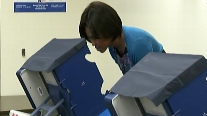 Video: First Lady Michelle Obama votes early.