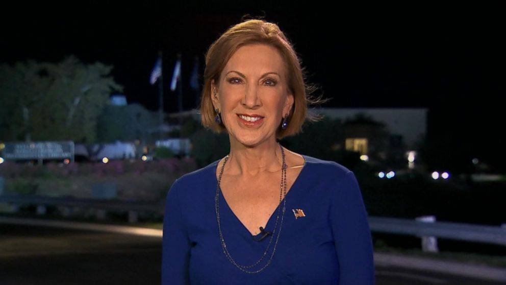 Carly Fiorina speaks with Good Morning America's George Stephanopoulos, Sept. 17, 2015.