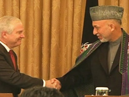 Video of Secretary Gates and President Karzai in Afghanistan.