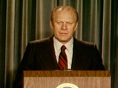 Video of President Ford nominating John Paul Stevens to Supreme Court.