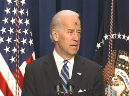 Video of Vice President Joe Biden on first day of lent, discussing stimulus.