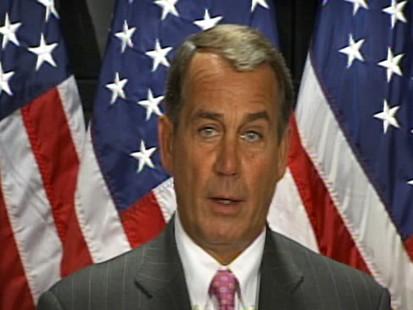 Video of Republican Rep. John Boehner or Rep. Charlie Rangel.