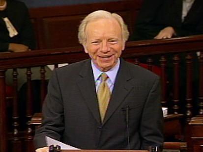 Video of Senator Al Franken forbidding Senator Joe Lieberman to finish health care remarks.